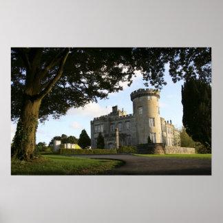Ireland, the Dromoland Castle side entrance. Poster