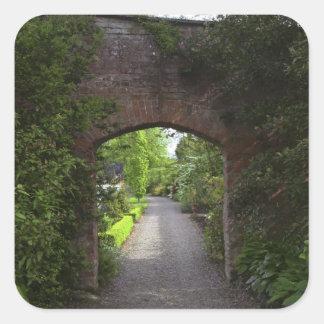 Ireland, the Dromoland Castle very green Square Sticker