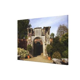 Ireland, the Dromoland Castle Walled Garden Canvas Print