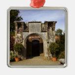 Ireland, the Dromoland Castle Walled Garden Metal Ornament