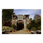 Ireland, the Dromoland Castle Walled Garden Print