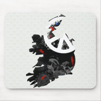 Ireland Trendy Peace Sign with Irish map Mouse Pad