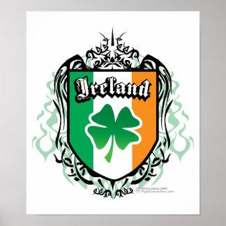 Ireland Tribal Poster