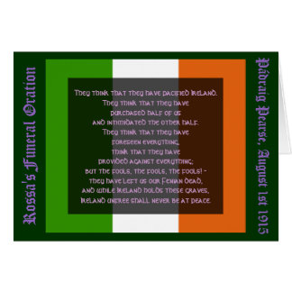 Ireland Unfree Shall Never Be at Peace Card