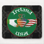 Ireland USA Claddagh Mousemat Mouse Pad