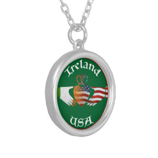 Ireland USA Claddagh Necklace