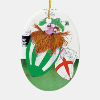 ireland v england rugby balls tony fernandes ceramic ornament