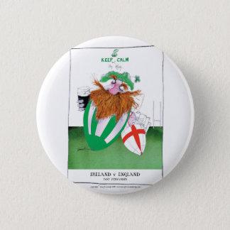 ireland v england rugby balls tony fernandes pinback button