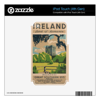 Ireland Vintage Travel iPod Touch 4G Decal