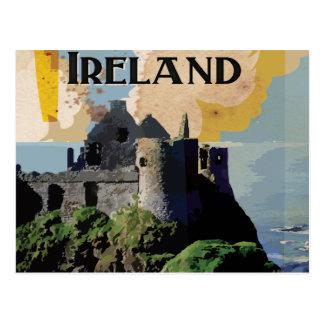 Ireland Vintage Travel Poster Postcard