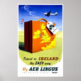 Ireland Vintage Travel Poster Restored