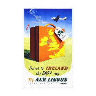 Ireland Vintage Travel Poster Restored Canvas Print