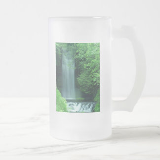 Ireland Waterfall Frosted Glass Beer Mug