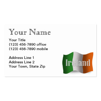 Ireland Waving Flag Double-Sided Standard Business Cards (Pack Of 100)