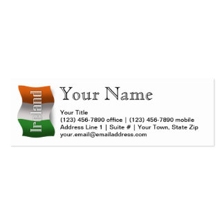Ireland Waving Flag Double-Sided Mini Business Cards (Pack Of 20)