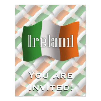 Ireland Waving Flag Card