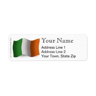 Ireland Waving Flag Label