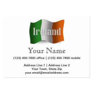 Ireland Waving Flag Large Business Card