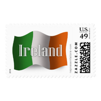 Ireland Waving Flag Stamp
