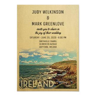 Ireland Wedding Invitation Vintage Mid-Century