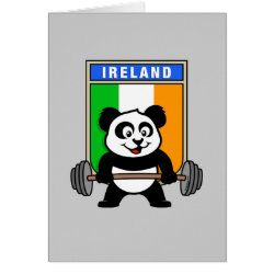 Greeting Card with Irish Weightlifting Panda design