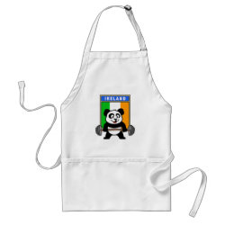 Apron with Irish Weightlifting Panda design