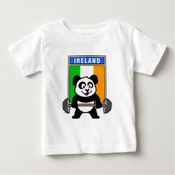 Baby Fine Jersey T-Shirt with Irish Weightlifting Panda design