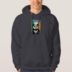 Irish Weightlifting Panda Men's Basic Hooded Sweatshirt
