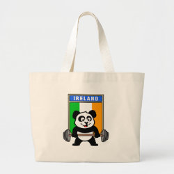 Jumbo Tote Bag with Irish Weightlifting Panda design