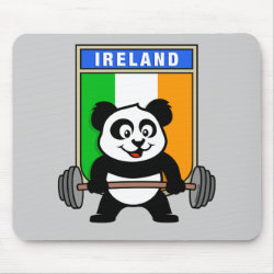 Mousepad with Irish Weightlifting Panda design