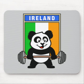 Ireland Weightlifting Panda Mouse Pad
