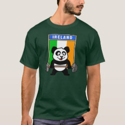 Men's Basic Dark T-Shirt with Irish Weightlifting Panda design
