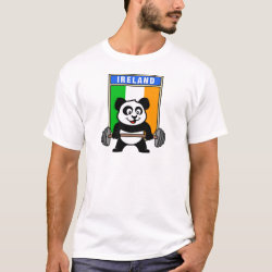 Men's Basic T-Shirt with Irish Weightlifting Panda design