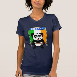 Women's American Apparel Fine Jersey Short Sleeve T-Shirt with Irish Weightlifting Panda design