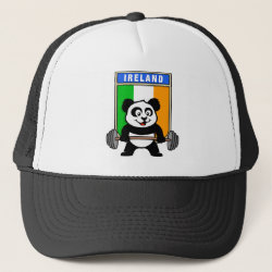 Trucker Hat with Irish Weightlifting Panda design