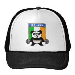 Trucker Hat with Irish Weightlifting Panda design