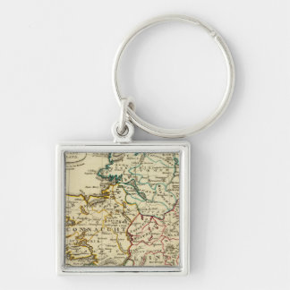 Ireland with boundaries outlined keychain