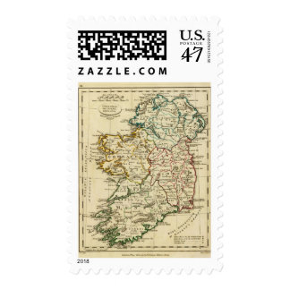 Ireland with boundaries outlined postage