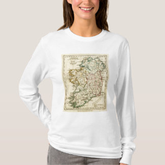 Ireland with boundaries outlined T-Shirt