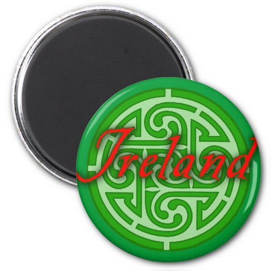 Ireland with Celtic Circle Magnet