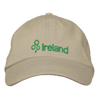 Ireland with Shamrock Embroidered Baseball Hat