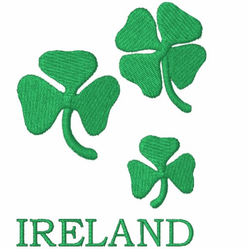 Ireland with Shamrocks Embroidered Shirt
