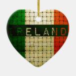 Ireland Woven Flag Christmas Tree Ornaments