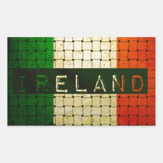 Ireland Woven Flag Rectangular Sticker