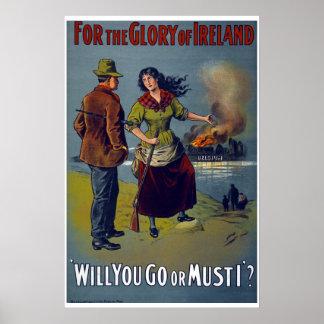 Ireland WW1 British Army recruiment poster