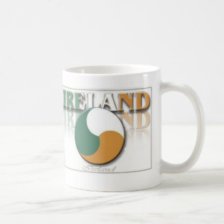 Ireland Ying Yang Classic White Coffee Mug