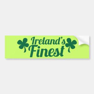 Irelands Finest! St Patricks day national pride Bumper Sticker