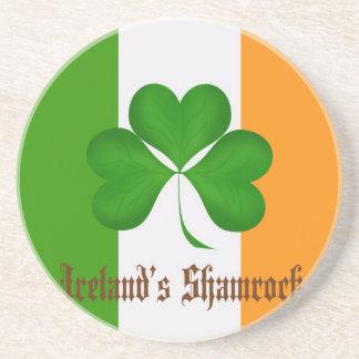 Ireland's Flag and Shamrock Gifts Beverage Coasters