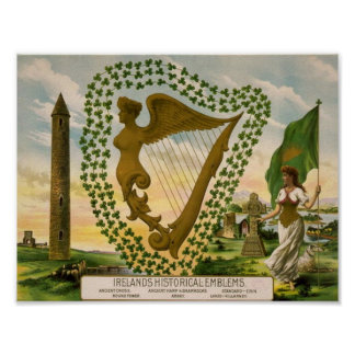 Ireland's Historical Emblems Poster