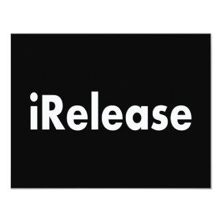 """iRelease Invitación 4.25"""" X 5.5"""""""